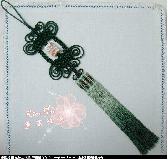 中国结论坛 莲芸学结--仿学姊妹花和几个小挂饰  作品展示 104808jbobi3bdigdbljry