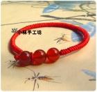 小林手工坊 红玛瑙编织金刚结红绳手链新品特价9.9元包邮