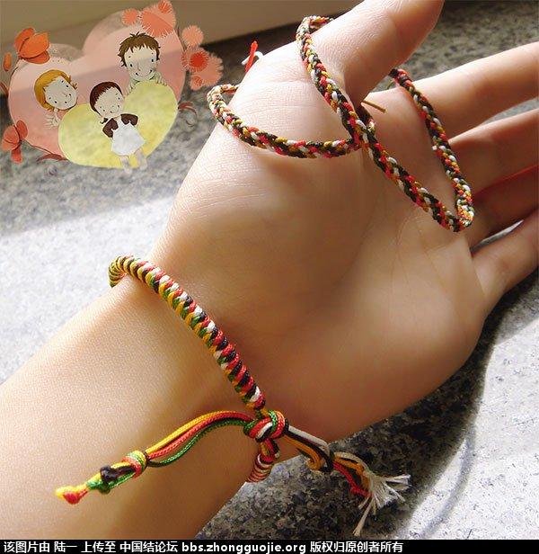 中国结论坛 端午节的五彩绳,一家三口都有份 端午节,五彩 作品展示 133057yi02l1xjilak092a