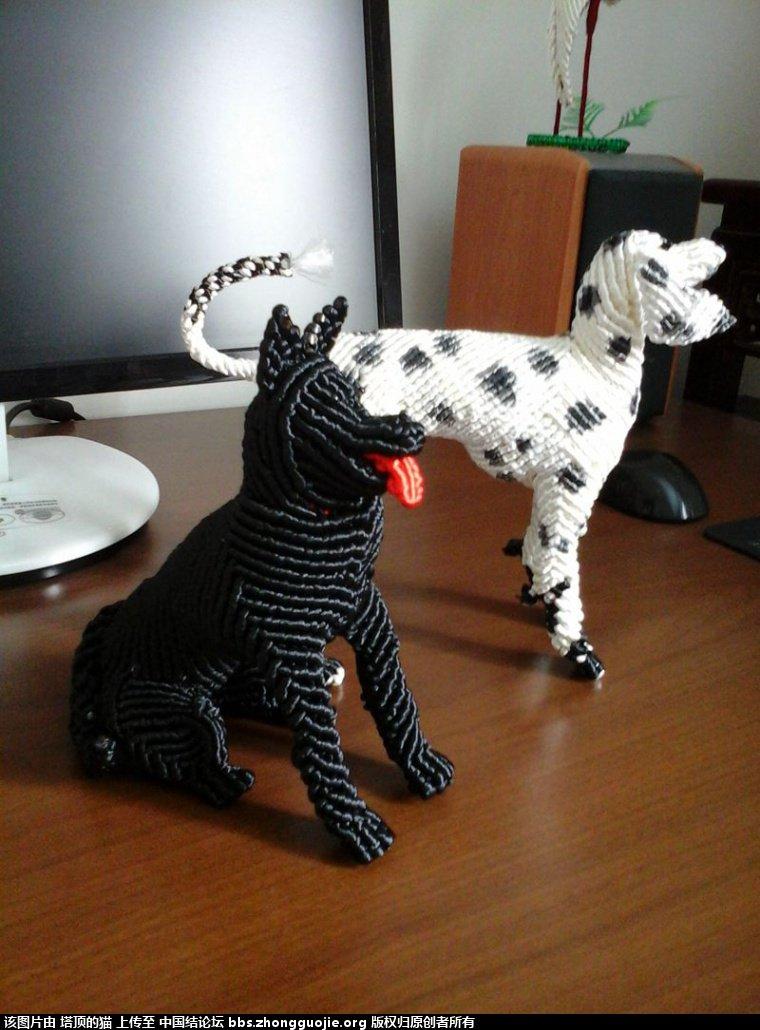 中国结论坛 早就喜欢李钉老师的黑贝狗,终于编出来了给老师交作业 黑贝 立体绳结教程与交流区 2006475lctq2tvitcrq2a5