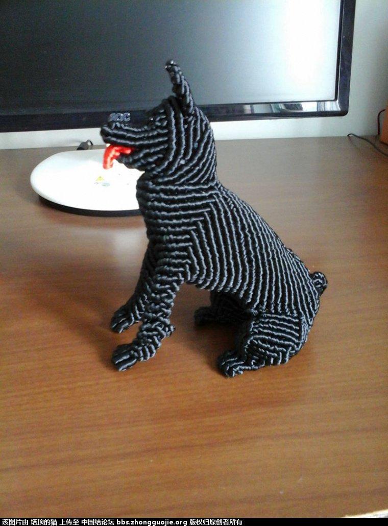 中国结论坛 早就喜欢李钉老师的黑贝狗,终于编出来了给老师交作业 黑贝 立体绳结教程与交流区 2006539j2uquukkjuikylx