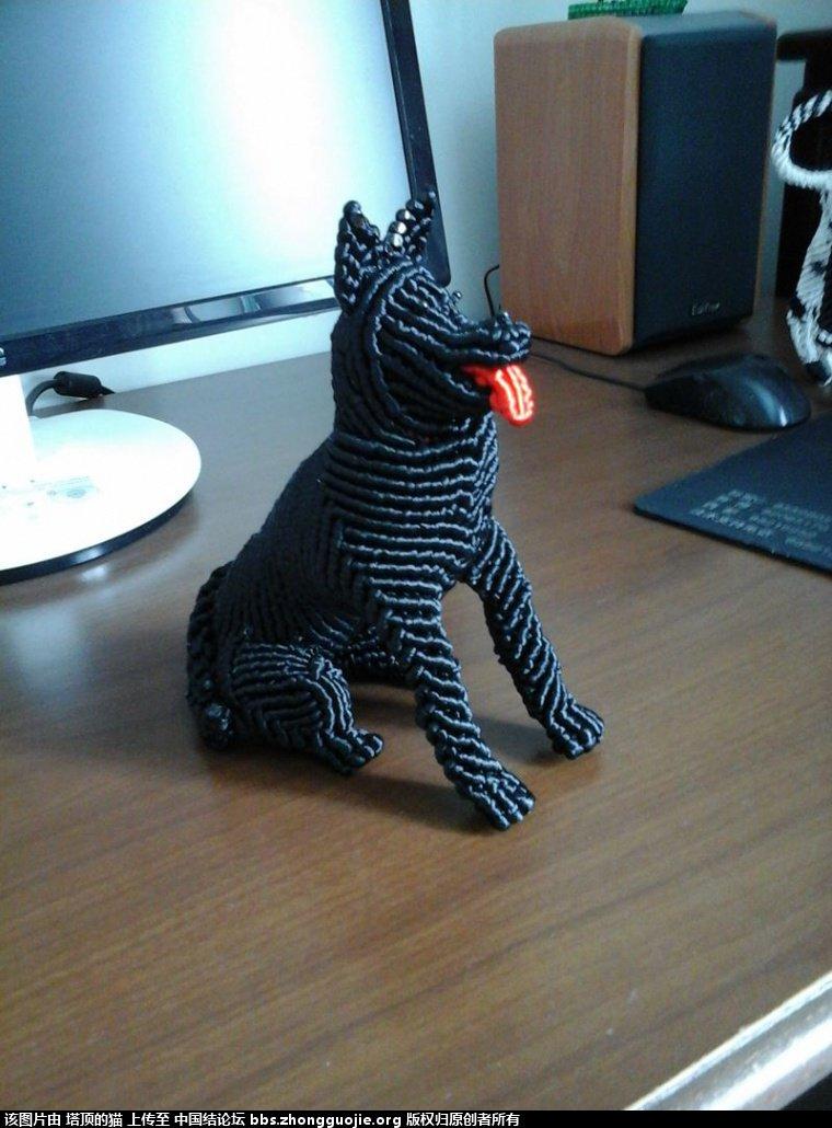 中国结论坛 早就喜欢李钉老师的黑贝狗,终于编出来了给老师交作业 黑贝 立体绳结教程与交流区 2006544ah4egut6e420esg