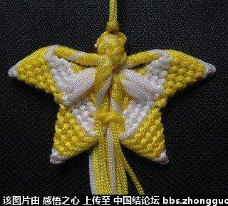 中国结论坛 小蝴蝶的编织过程 编织,蝴蝶 立体绳结教程与交流区 1605117qap9poea8qp72oq