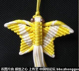 中国结论坛 小蝴蝶的编织过程 编织,蝴蝶 立体绳结教程与交流区 160511lsqlpgl5q55o9so3
