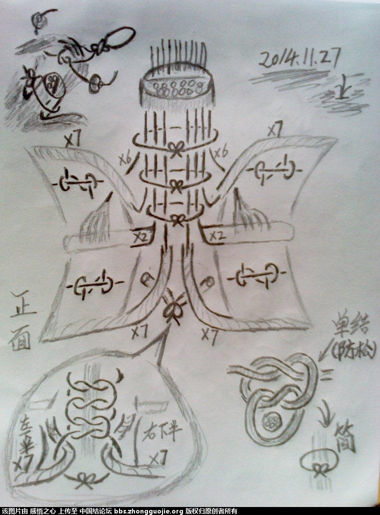 中国结论坛 小蝴蝶的编织过程 编织,蝴蝶 立体绳结教程与交流区 121806gjs0plkz77zm7zbj
