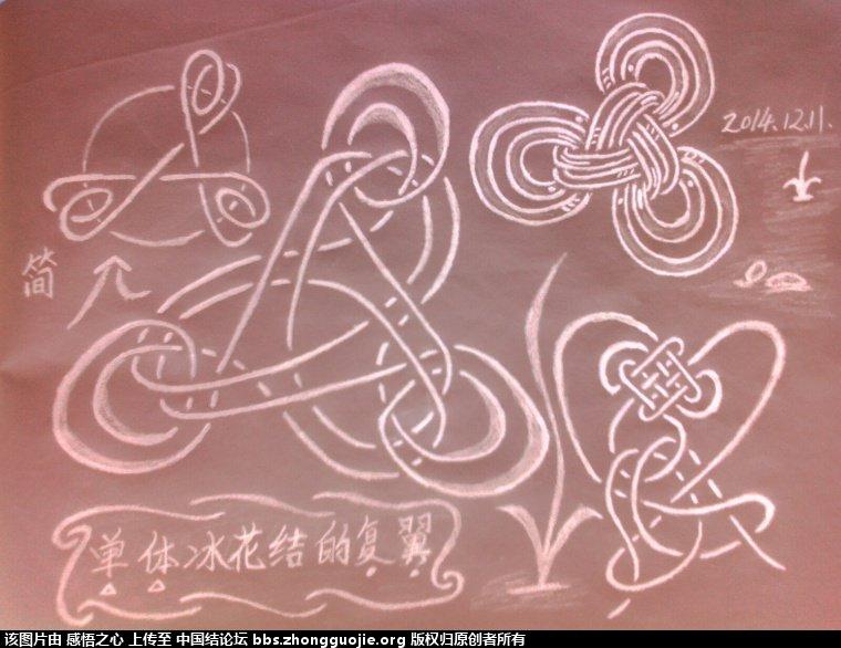 中国结论坛 【阅读简图】认识冰花结的简图 基础知识,示意图,中心 冰花结(华瑶结)的教程与讨论区 1721033oxt3ebji5p75bbe