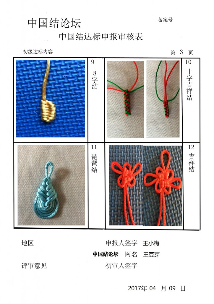 中国结论坛 王豆芽-初级达标申请稿件 豆芽 中国绳结艺术分级达标审核 221851qwbp4zb14ab4989q