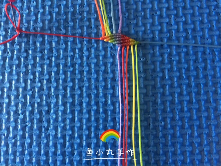 中国结论坛 幸运绳斜卷结手绳-鱼小丸手作  图文教程区 191455nppk9d8ndss8lsm9