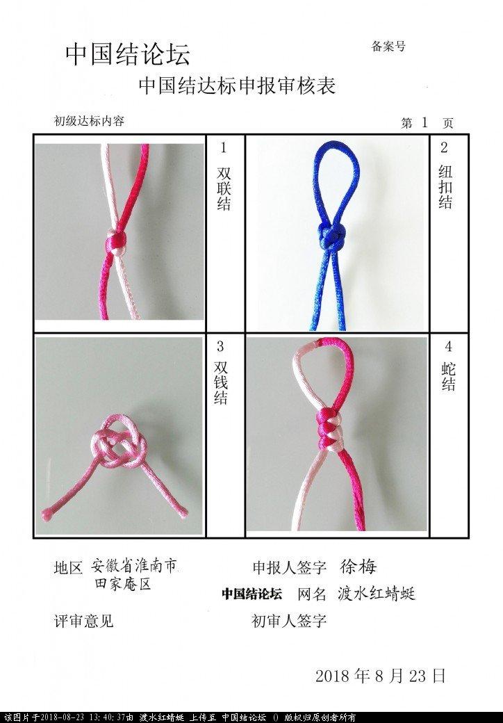中国结论坛 渡水红蜻蜓---初级达标申请稿件  中国绳结艺术分级达标审核 134036jqsj0bsqx0ib080i