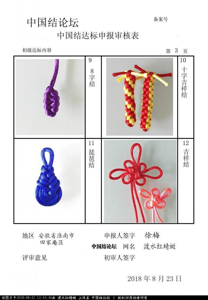 中国结论坛 渡水红蜻蜓---初级达标申请稿件  中国绳结艺术分级达标审核 134104abduob30h06k3g6b
