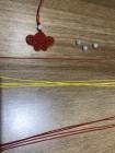 如意蝴蝶,翩翩起舞。红线60cm一根,45cm四根,黄线40cm四根,一粒喜欢的珠子。第一次 ...