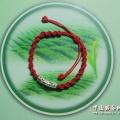 红绳银珠手链