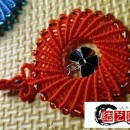 好看的玉线编绳圆环挂件,简单平安结吊饰绳做法