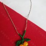 小樱桃项链编织教程图解,废项链的利用办法