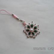 漂亮的斜卷结挂件编织教程(3)