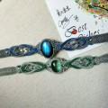 萤石与蓝拉手链