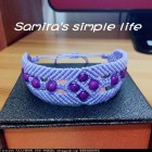 紫色浪漫手绳-新手学习作品