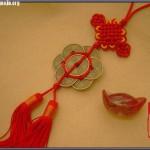 中国结梅花铜钱编法图解,梅花铜钱编法步骤图