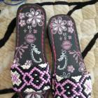 手工编织鞋