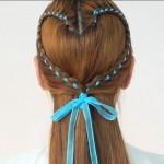 爱心头发怎么扎?4款心形编发造型教程