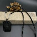菜鸟级蛇结+黑曜石圆珠编制的一款千手观音毛衣链