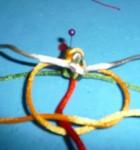 三层平结及绕线圈的做法
