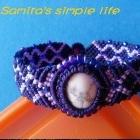 低调紫包白色石手链-新手原创教程