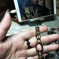 红纹石配黄水晶手链
