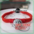 手工精编彩陶红绳手链 学的 包括绕线和纽扣结  首次献丑