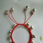 给女儿做的铃铛脚链,美美哒