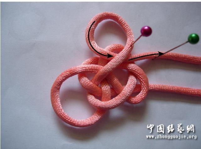 中国结论坛 四耳A型旋叶结单结练习1  冰花结(华瑶结)的教程与讨论区 220942re0l60elxx1a6u3r