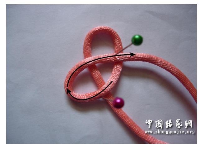 中国结论坛 四耳A型旋叶结单结练习2  冰花结(华瑶结)的教程与讨论区 210646l410evpvepvz4ve0