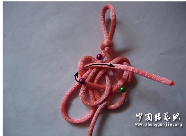 中国结论坛 四耳A型旋叶结单结练习3  冰花结(华瑶结)的教程与讨论区 101516w76avv33vv3oolpt