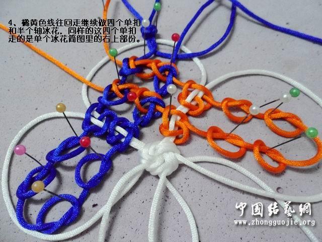 中国结论坛 五角星冰花的编结过程  冰花结(华瑶结)的教程与讨论区 163657njlbbjuj02r3hl9h