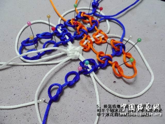 中国结论坛 五角星冰花的编结过程  冰花结(华瑶结)的教程与讨论区 163707dbdm2dz2hedjbemf