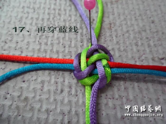 中国结论坛 四线有轴冰花结——后轴线编结过程 六连体团锦冰花的编法,四线冰花结编法教程,冰花结走线图 冰花结(华瑶结)的教程与讨论区 11195599ubv889vbt9buba