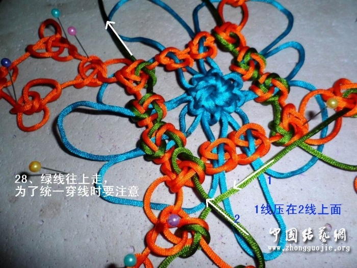 中国结论坛 富贵花开冰花板的编结过程!  冰花结(华瑶结)的教程与讨论区 223657jksxxxxix8i8zzz8