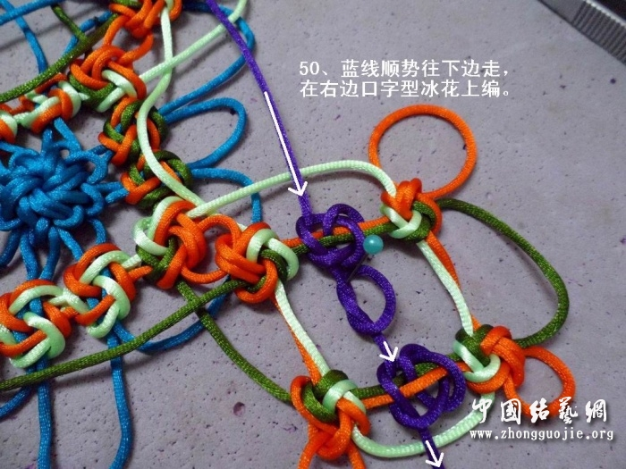 中国结论坛 富贵花开冰花板的编结过程!  冰花结(华瑶结)的教程与讨论区 224026ji1scnsmdsms1sns