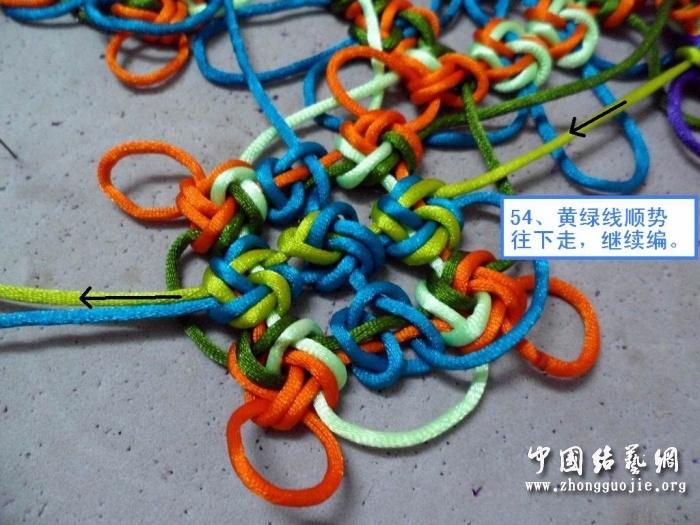 中国结论坛 富贵花开冰花板的编结过程!  冰花结(华瑶结)的教程与讨论区 22410882k81xeeq33k3x6m
