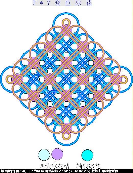 中国结论坛 7乘7套色冰花简图和实物图(2011-7-4重画简图)  冰花结(华瑶结)的教程与讨论区 100058ulgdrhdzwvdhkkgh