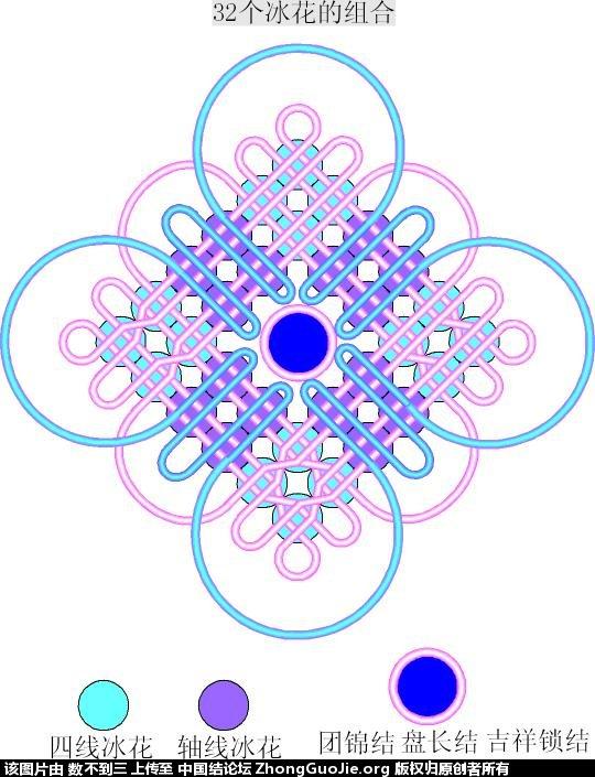 中国结论坛 6乘6套色冰花变化的编结过程  冰花结(华瑶结)的教程与讨论区 085154gggsgsagxahbwy4y