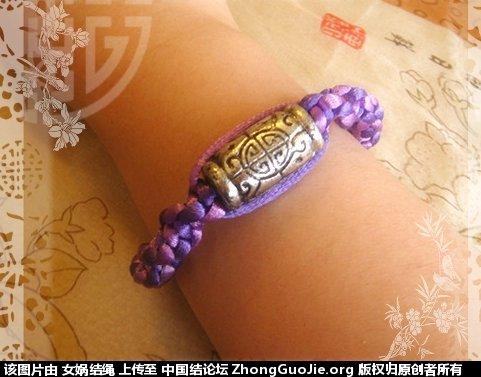 中国结论坛 新编的紫色扭平结手链  作品展示 1114414h4p4rf95rg3hgma
