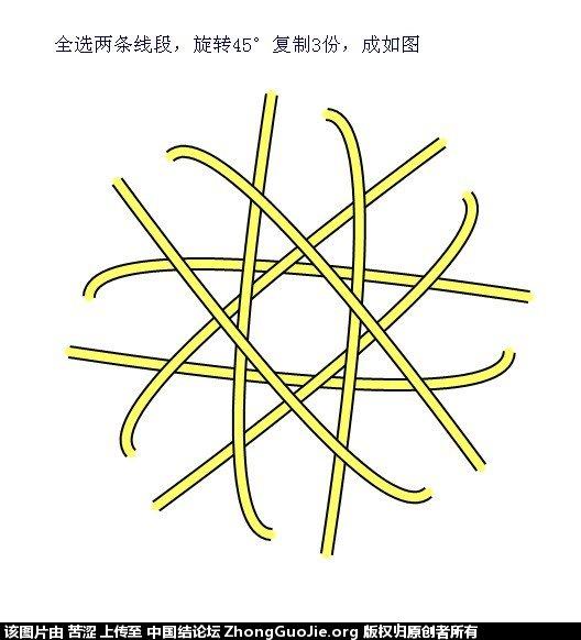 中国结论坛 六瓣八瓣锁结绘图教程  走线图教程【简图专区】 15221022dz5aaiov1nikoa