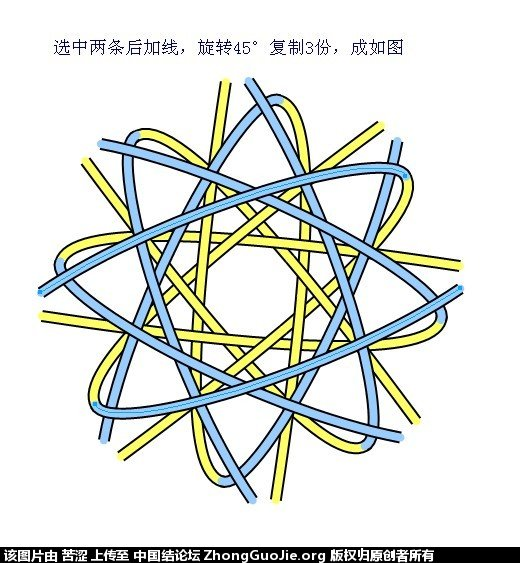 中国结论坛 六瓣八瓣锁结绘图教程  走线图教程【简图专区】 152221r1x7bvsbb7bejjcr