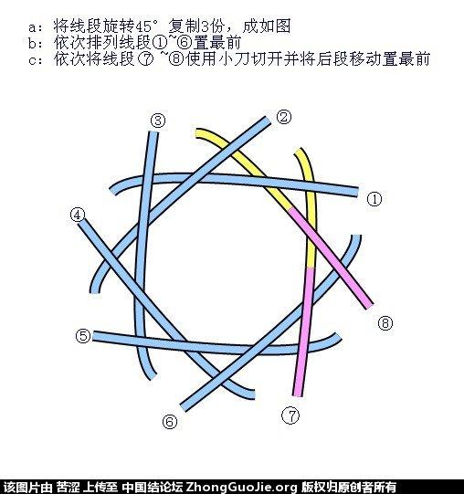 中国结论坛 六瓣八瓣锁结绘图教程  走线图教程【简图专区】 020724thjoo6bcommr3dj3