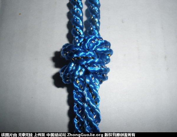 中国结论坛 双联结的两种简单编法 二根绳子各种编法图解,一根绳子编法大全简单,双线双联结编法图解,双联结最简单的打法,竖双联结编法图解视频 基本结-新手入门必看 165212wm3iymszxsrwzjbw