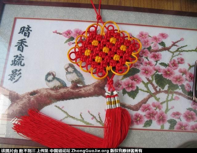 中国结论坛 套色双回菱的编结过程  冰花结(华瑶结)的教程与讨论区 110732enrrqibtt800833b