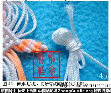 中国结论坛 小金鱼的编法图文教程(惦念)  立体绳结教程与交流区 083121oq3foere3r3frz23