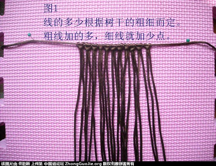 中国结论坛 梅花树干的制作过程  立体绳结教程与交流区 112424fll86p7wfgx3qrsz