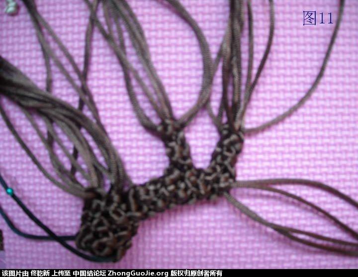 中国结论坛 梅花树干的制作过程  立体绳结教程与交流区 1125044iqis4d928q86vq9